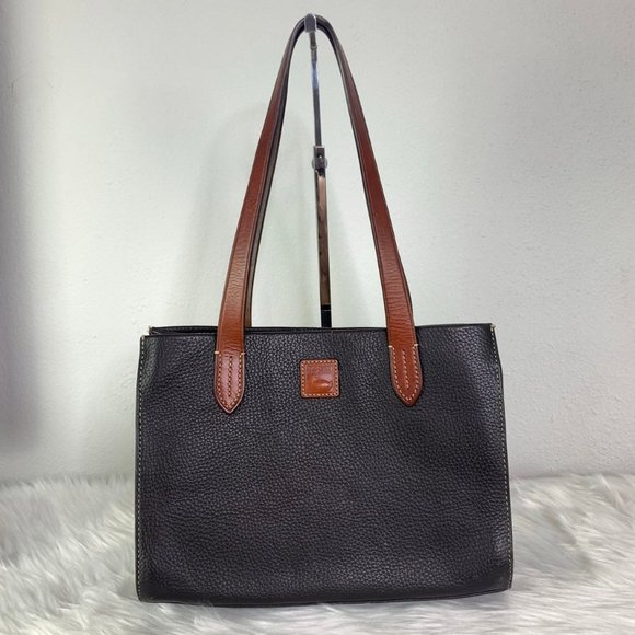 Small Black Pebbled Leather Dooney & Bourke Tote